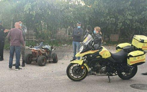 ילד בן 8 שרכב על טרקטורון נפצע קשה בתאונה ברמלה