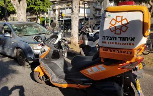 הולך רגל נפצע כתוצאה מפגיעת רכב בתל אביב – מצבו בינוני עד קשה