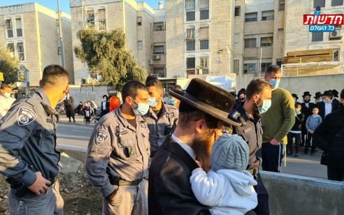 עשרות קיצונים הפריעו לעבודות הרכבת הקלה בירושלים – 3 חשודים נעצרו