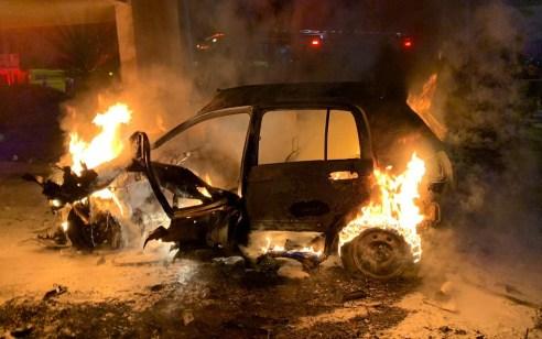 שני פצועים קשה ובינוני בפיצוץ רכב בלוד