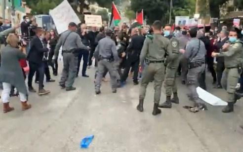 מחאה נגד ביקור נתניהו בנצרת: 19 מתפרעים נעצרו