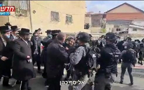 אכיפת הנחיות הקורונה במאה שערים: עימותים בין תושבים לשוטרים | תיעוד