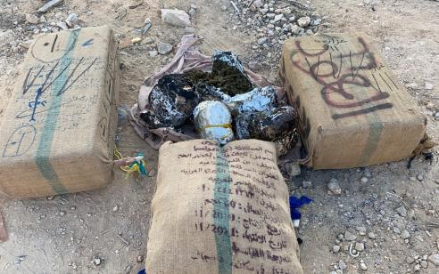 """לוחמי צה""""ל סיכלו הברחת סמים בשווי מיליוני שקלים ממצרים"""