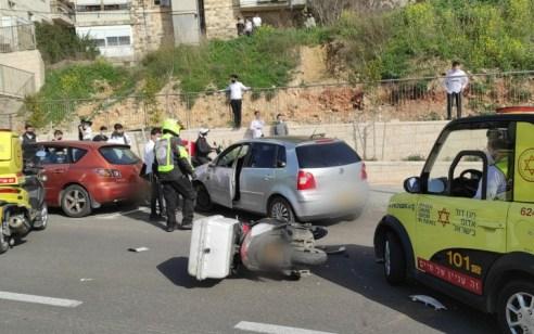 שליח פיצה כבן 18 נפצע אנוש בתאונה בירושלים