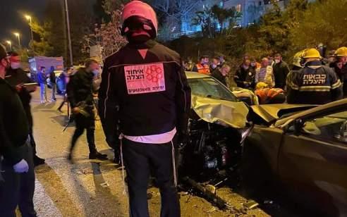 5 נפגעים בתאונה בכביש 425 סמוך לצומת הכניסה לקרית יערים