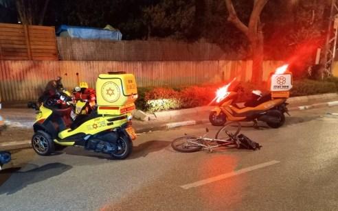 רוכב אופניים בן 16 נפצע קשה בתאונה בכפר סבא