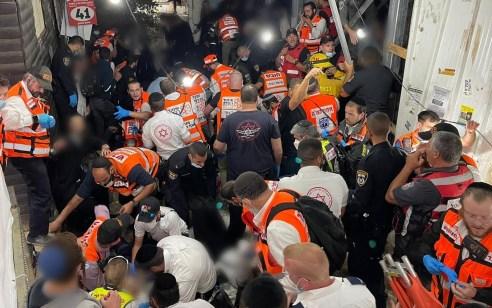 אסון כבד במירון: 45 בני אדם נהרגו – 150 נפצעו בדרגות שונות כתוצאה מדוחק