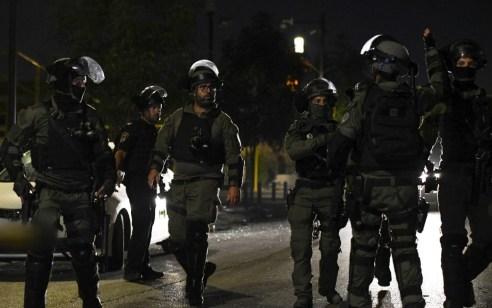 """לוחמי מג""""ב עצרו 43 חשודים בהפרות הסדר בלוד"""