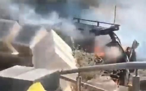 """ירי נ""""ט בוצע מהרצועה לעבר רכב ישראלי אדם נפצע קל"""