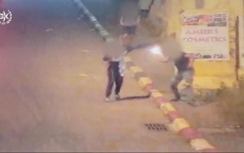 תיעוד: השליך בקבוק תבערה בעוטף ירושלים – ונעצר בשעת מעשה
