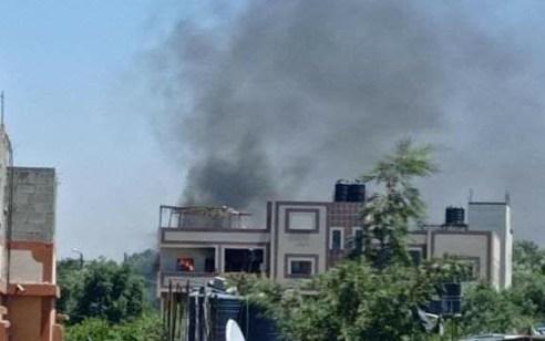 """תיעוד: צה""""ל תקף עמדת תצפית ובה פיר מנהרה של ארגון הטרור חמאס"""