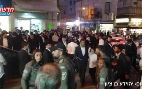 הפגנת קיצונים בירושלים: 5 חשודים נעצרו במחאה נגד חנות מחשבים בשכונת גאולה | תיעוד