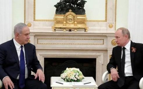 """ראש הממשלה נתניהו ופוטין שוחחו: """"דנו בהתפתחויות בזירה הצפונית"""""""