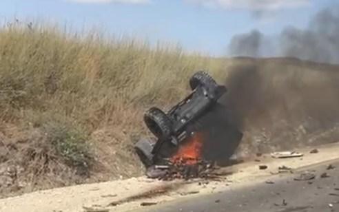 שני רוכבי אופנוע נהרגו בתאונה עם מעורבות ג'יפ בין כפר קרע לרגבים