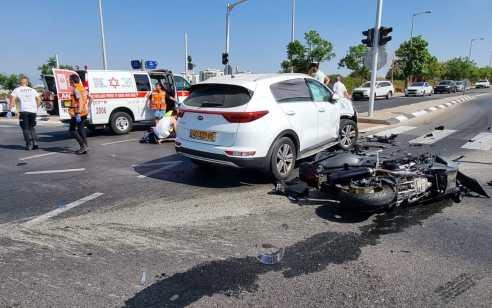 ראשון לציון: רוכב אופנוע נהרג בתאונה – בנו כבן 7 נפצע בינוני