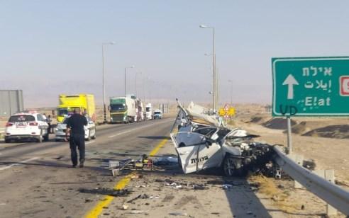 הקטל בכבישים: נהג רכב בן 50 נהרג בתאונה בכביש 90 סמוך לצומת עיןיהב