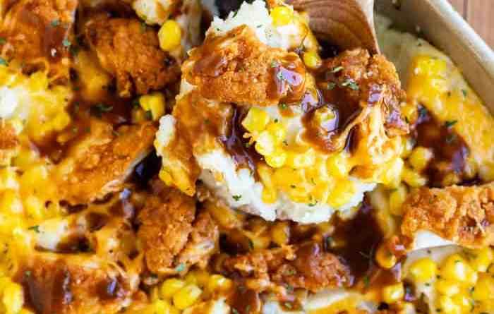 Chicken Mashed Potato Casserole