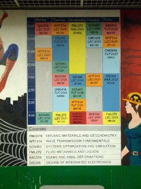 Engineering Timetable