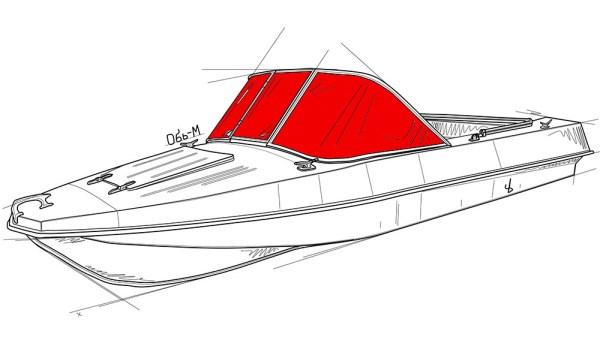 Стекло на лодку Обь-М