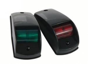 Комплект бортовых навигационных огней в чёрном пластиковом корпусе (б)