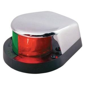 Огонь навигационный двухцветный носовой на пластиковом основании