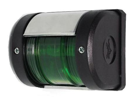 Бортовой навигационный огонь зелёного цвета (со светодиодами)