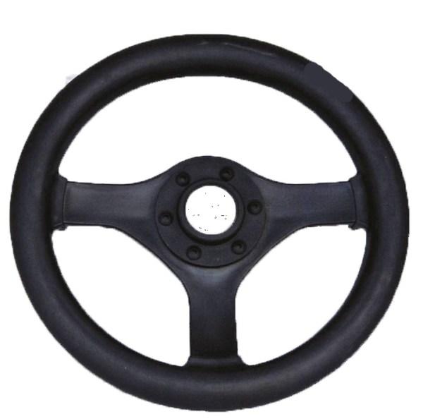 Рулевое колесо с полеурет. покрыт. 280 мм.(чёрное)