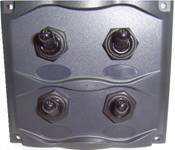 Панель брызгозащищённая с четырьмя переключателями