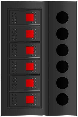 Панель электрическая (6 переключателей)