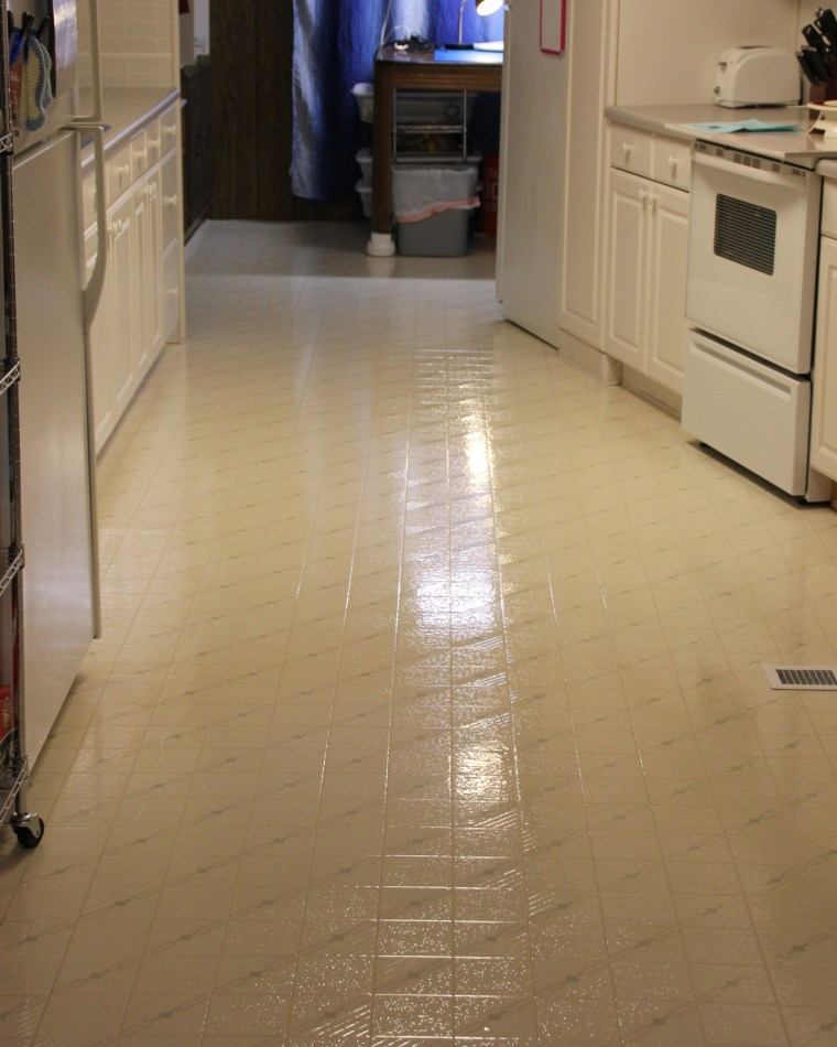 All4Fun Cakes Clean and Shiny Kitchen Floor