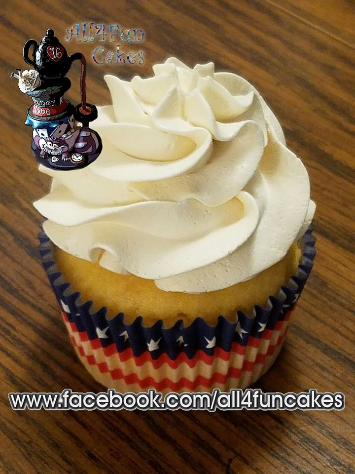 Gluten Free Vanilla Cupcake by All4Fun Cakes