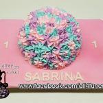 Pastel Flowers Smash Birthday Cake by All4Fun Cakes LLC