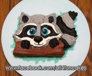 Racoon Smash Cake by All4Fun Cakes
