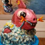 Sculpted Pink Tiger Shark Birthday Cake by All4Fun Cakes LLC