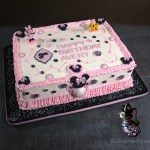 Minnie Mouse Theme Birthday Sheet Cake with Disney Licensed Characters by All4Fun Cakes LLC