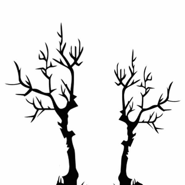 Haunted House Cake Template Spooky Trees - Caking with All4Fun Cakes