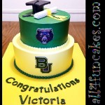 Baylor Bears College Graduation Special Occasion Cake by All4Fun Cakes LLC 2017 Single Use License Granted by Baylor University Texas