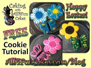 How to Make Cute Butterflies and Flowers Cookies FREE DIY Easy Cookie Decorating Tutorial by Caking with All4Fun Cakes LLC 2018