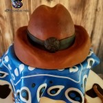 Gluten Free Sinful Decadence Chocolate Cake with Caramel Buttercream and Fondant - Cowboy Hat and Western Theme Cake - All4Fun Cakes LLC 2018