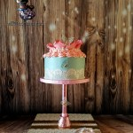 Lace and Rose Birthday Wedding Anniversary Cake by All4Fun Cakes LLC 2018