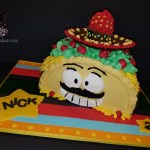Mr Taco Loco Sculpted Birthday Cake by All4Fun Cakes LLC 2017