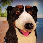Noah the Bernese Mountain Dog Sculpted Cake by All4Fun Cakes LLC 2018
