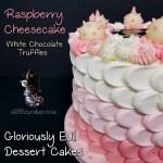 Birthday Anniversary Holiday Party Raspberry Cheesecake Dessert Cake Raspberry Filling and Raspberry Cheesecake Buttercream by All4Fun Cakes LLC