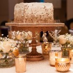 Rose Gold Ivory Sugar Free Almond Amaretto Wedding Cake by All4Fun Cakes LLC 2018