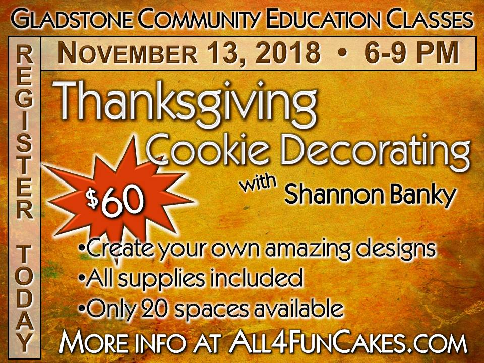 Thanksgiving Cookie Decorating Class 11-13-18 All4Fun Cakes LLC