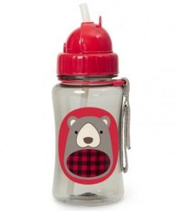Steklenička s slamico Skip Hop- medvedek