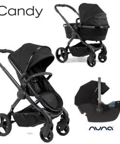 Otroški voziček 3v1 iCandy Peach, DC Cerium + Nuna Pipa Icon, Caviar