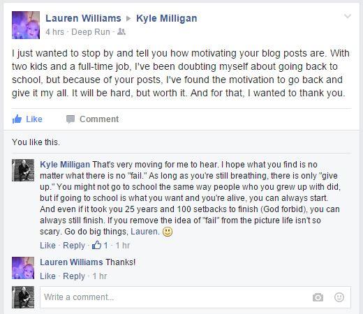 Lauren FB Convo
