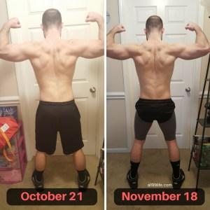 Back Progress October to November 18 Bigger Leaner Stronger Results