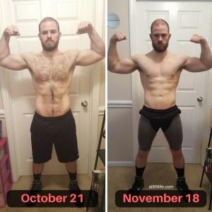 Bigger Leaner Stronger Results Front Progress October to November 18